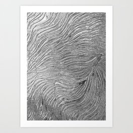 Chrome effect metallic texture Art Print