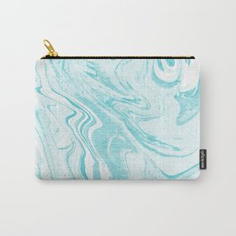 Giro - spilled ink abstract marble watercolor japanese painting marbling unique mint pastel  Carry-All Pouch