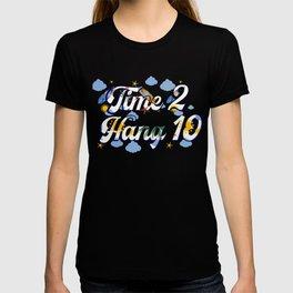 Time 2 Hang 10 Vintage Retro Surfing Beach Surf T-shirt
