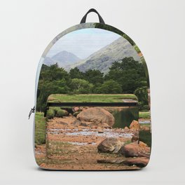 Here is realization - Glen Etive, Scotland Backpack