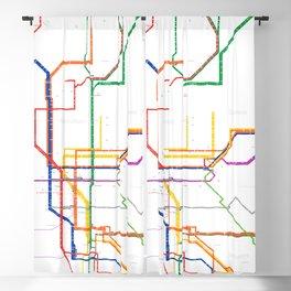 Naples Subway Map.Subway Blackout Curtains Society6