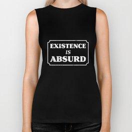 Philosophy T Shirt Existence is Absurd, Existential Nihilist Biker Tank
