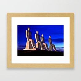 MAN AT SEA Framed Art Print