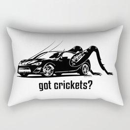 Got Crickets? ~Black~ Rectangular Pillow