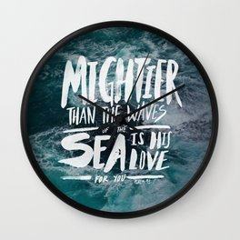 Mightier than the Sea Wall Clock