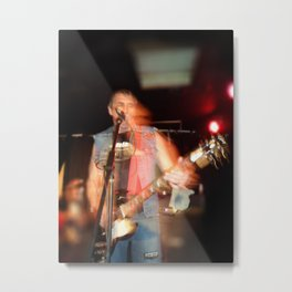 Joey from D.O.A live onstage Metal Print