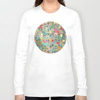 moroccan Long Sleeve T-shirts featuring Gilt & Glory - Colorful Moroccan Mosaic by micklyn