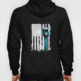 Air Traffic Controller US Flag ATC Flight Control graphic Hoody
