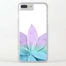 Mermaid Agave on White #1 #tropical #decor #art #society6 Clear iPhone Case