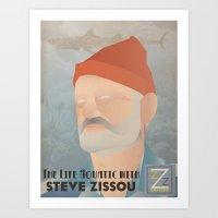 zissou Art Prints featuring Zissou by Jake Jones