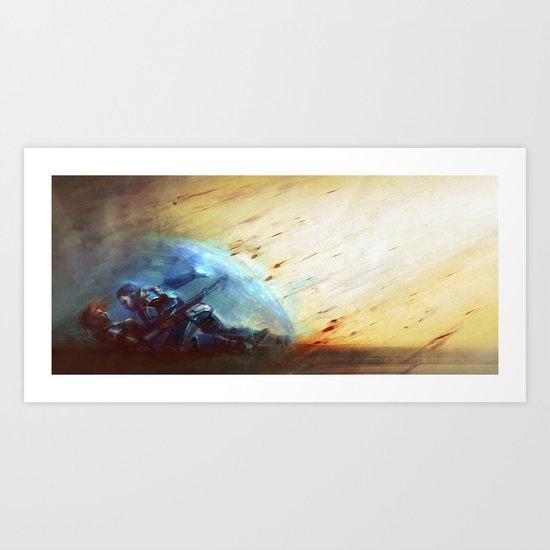 Mass Effect - Shepard and Kaidan Art Print