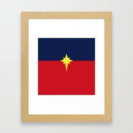 Captain Mar-vell Costume Framed Art Print