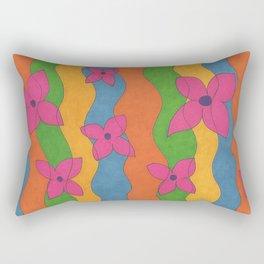 Retro: Flower Power Rectangular Pillow