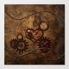 Steampunk, noble design Canvas Print