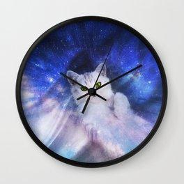 Galaxy Kitty Wall Clock