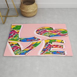 Colorful pink love Rug