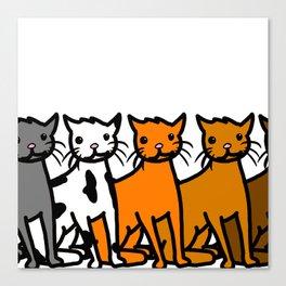Cattern Pattern | Veronica Nagorny Canvas Print