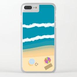 Beach Clear iPhone Case