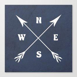 Compass arrows Canvas Print