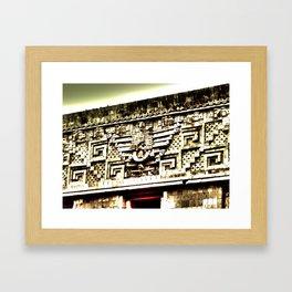 Mayan Architecture Framed Art Print