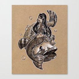 Mermaid Sea Bass Canvas Print