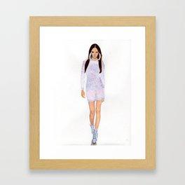 Supermodel Joan Framed Art Print