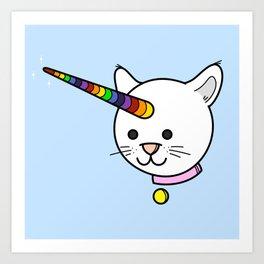 Caticorn: Rare with Rainbow Art Print