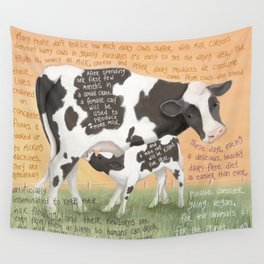 Cows 1- Holstein (Dairy) Wall Tapestry