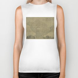 Vintage Map of Washington D.C. (1820) Biker Tank