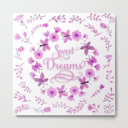 Sweet Dreams - Pink Metal Print