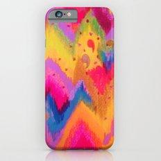 BOLD QUOTATION - Bright Vibrant Neon Quote Chevron Pattern Ikat Rainbow Trendy Design Fun Art iPhone 6s Slim Case