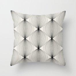 Geometric Orb Pattern - Black Throw Pillow