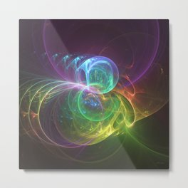 Spun Glass Metal Print