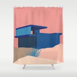 Kaufmann Desert House Blue - Rosé Shower Curtain