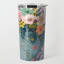 Elephant with flowers on head Travel Mug