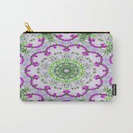 Purple Wildflower Kaleidoscope Art 6 Carry-All Pouch