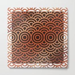 Circle Pattern Metal Print