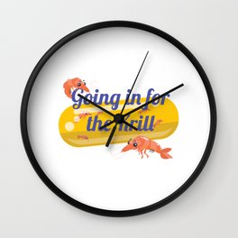 Going In For The Krill Wall Clock