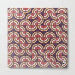 Mid-century modern pattern 1 Metal Print