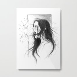 Pain into anger Metal Print