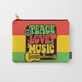 Rasta Peace Love Music Carry-All Pouch