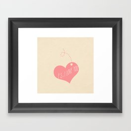P.S. I love you Framed Art Print