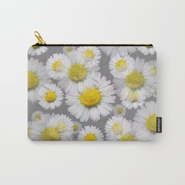 GREY GARDEN OF SHASTA DAISY FLOWERS ART Carry-All Pouch