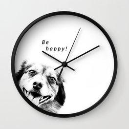 Be happy! Wall Clock