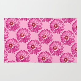 Abstract Photo Large Pink Flower Rug
