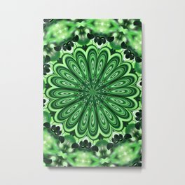 Mystery Green Puzzle Metal Print