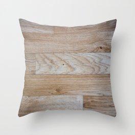 Light Wood Texture Throw Pillow