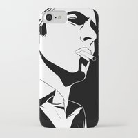 bowie iPhone & iPod Cases featuring Bowie by Tikwid
