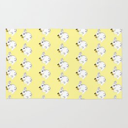 Some'bunny' Loves You...LOTS! (on yellow) Rug