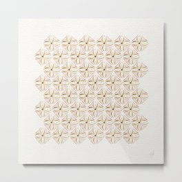 Rose Gold Watercolor Tile Metal Print